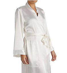 Amanda Rich Satin Knee Length Wrap Robe 207C40