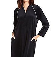 Amanda Rich Velour Zip Front Robe 607-37