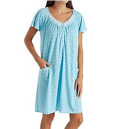 Aria Blue Charm Short Sleeve Short Nightgown 8017812