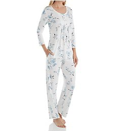 Aria Watercolor 3/4 Sleeve Long PJ Set 8917869