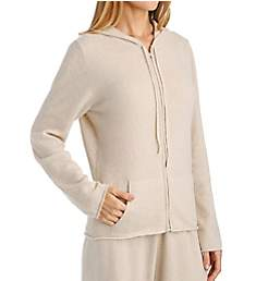Arlotta Cashmere Classic Front Zipper Jacket With Hoodie 3220