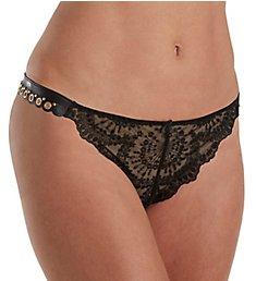Aubade Femme Sensuelle Faux Leather Tanga Panty ME26
