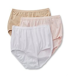 Bali Full-Cut-Fit Cotton Brief Panties - 3 Pack 2324PK
