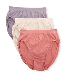 Bali Comfort Revolution Microfiber Hi Cut Panty - 3Pack DFAK83