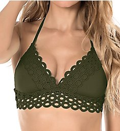 Becca Siren Halter Bikini Swim Top 583187