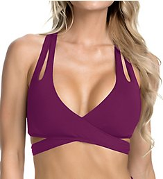 Becca Color Code Adjustable Tie Back Bikini Swim Top 853787