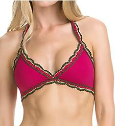 Becca Medina Halter Bikini Swim Top 943187