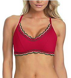 Becca Medina Halter Bikini Swim Top 943487