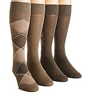 Calvin Klein Argyle Crew Dress Socks - 4 Pack ACP192