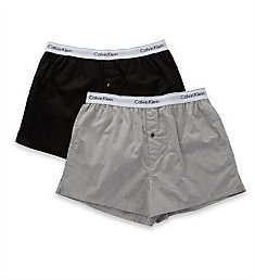 Calvin Klein Modern Cotton Stretch Slim Fit Boxers - 2 Pack NB1396