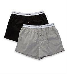 Calvin Klein Modern Cotton Stretch Slim Fit Boxers - 2 Pack NB1396