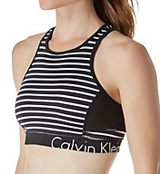Calvin Klein Performance Stripe Back Keyhole Sports Bra P7T2198