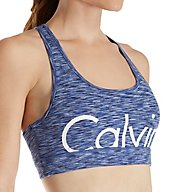 Calvin Klein Performance Pop Spacedye Logo Racerback Sports Bra P7T2458