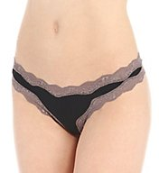 Calvin Klein Microfiber Thong With Lace QD3536
