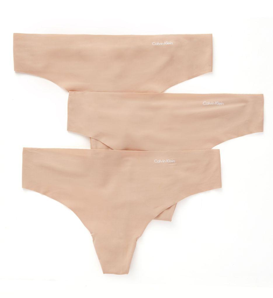 Calvin Klein Invisibles Thong - 3 Pack QD3558