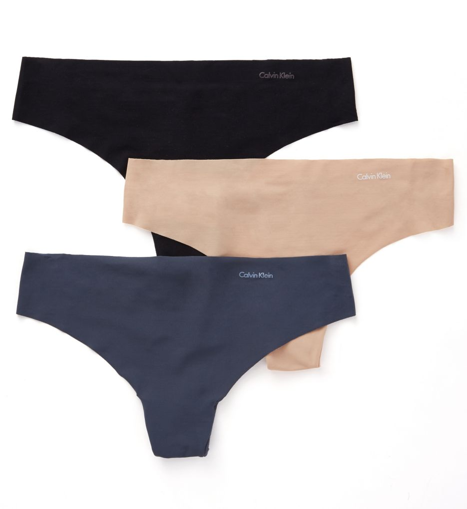 Calvin Klein Invisibles Thong - 3 Pack QD3558