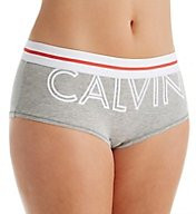 Calvin Klein Modern Cotton Exposed Logo Boyshort Panty QF1513