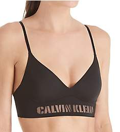 Calvin Klein Laser Unlined Triangle with Mesh Logo Bra QF1809