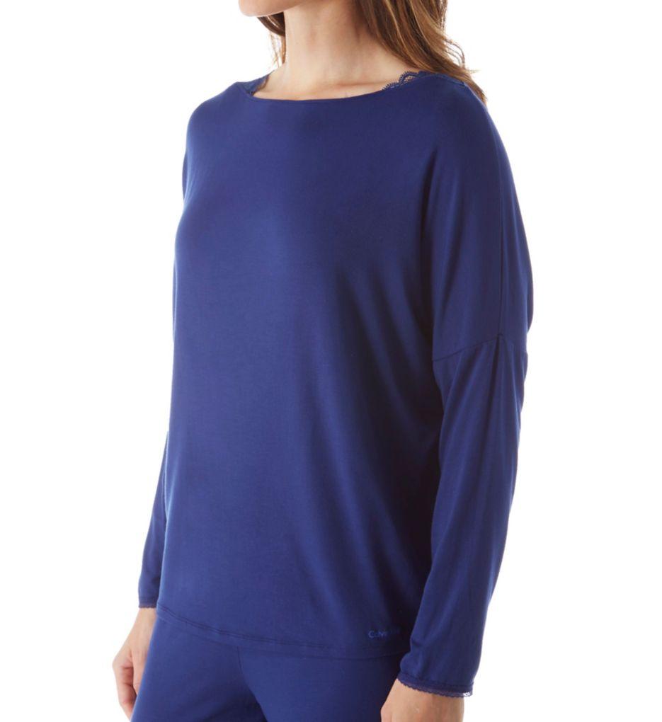Calvin Klein Seductive Comfort Long Sleeve Top QS5477