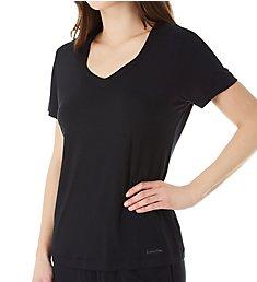Calvin Klein Sophisticated Modal Short Sleeve V-Neck T-Shirt QS6486