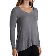 Carole Hochman Midnight Lounge Cut Away Top 1331250