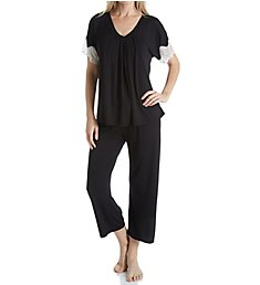 Carole Hochman Midnight Midnight Dreams Lace Capri Pajama Set 1391465