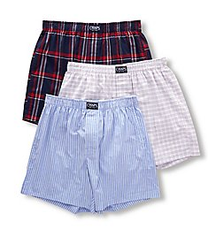Chaps Extended Size Essential Woven Boxers - 3 Pack CUW2P3