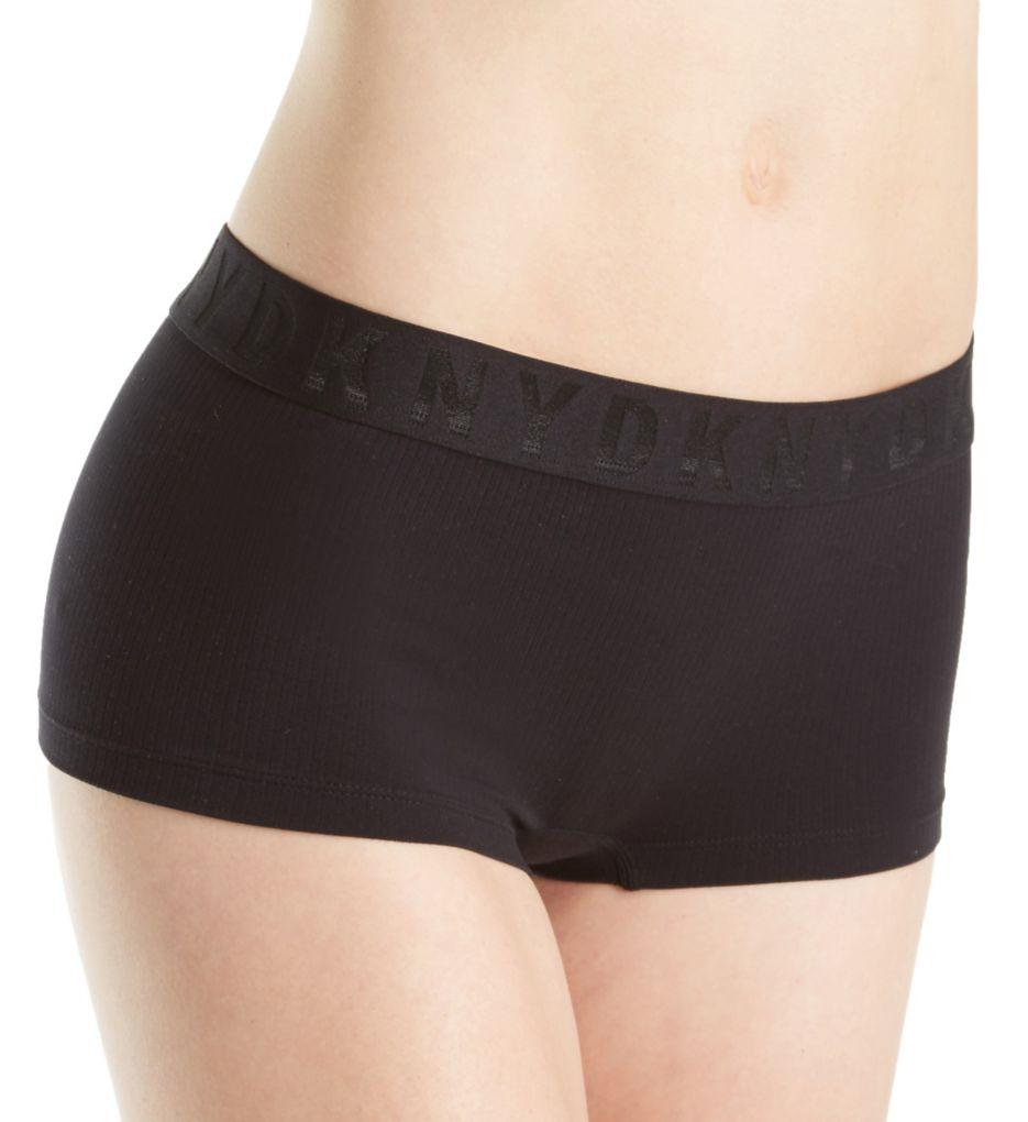 DKNY Seamless Litewear Rib Logo Hipster Panty DK5024