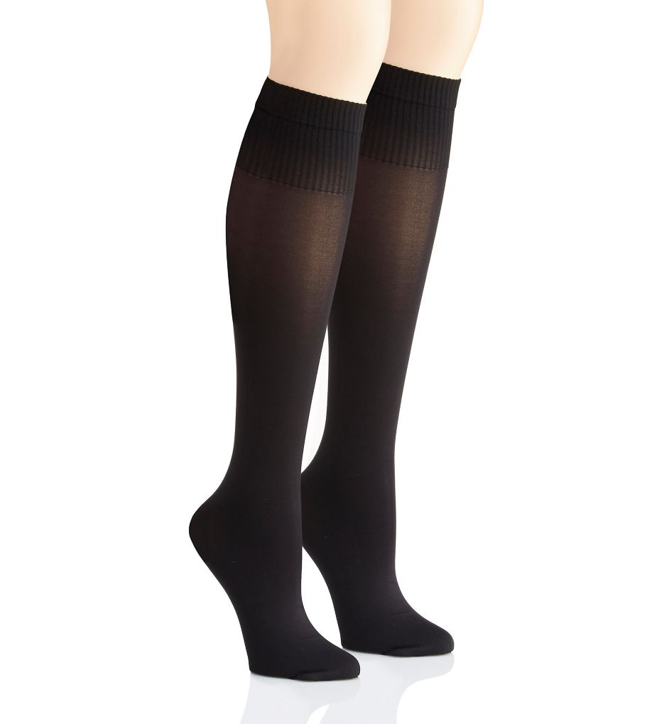 DKNY Hosiery Rib Opaque Knee High - 2 Pack DYF015