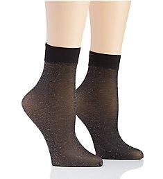 DKNY Hosiery Lurex Anklet - 2 Pack DYF023