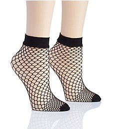 DKNY Hosiery Large Fishnet Anklet - 2 Pack DYS059