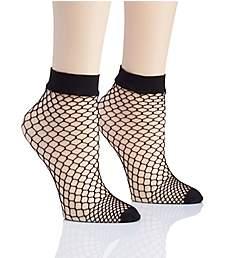 DKNY Hosiery Large Fishnet Anklet - 2 Pack DYS059