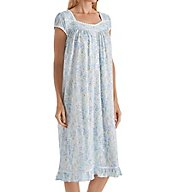 Eileen West Seaglass Modal Jersey Short Sleeve Waltz Nightgown 5016128