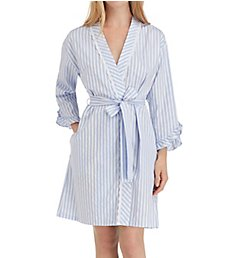 Eileen West Blues Sateen Short Wrap Robe 5119859
