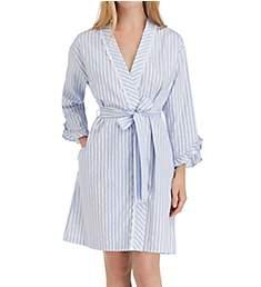 Eileen West Blues Sateen Short Wrap Robe 5119859