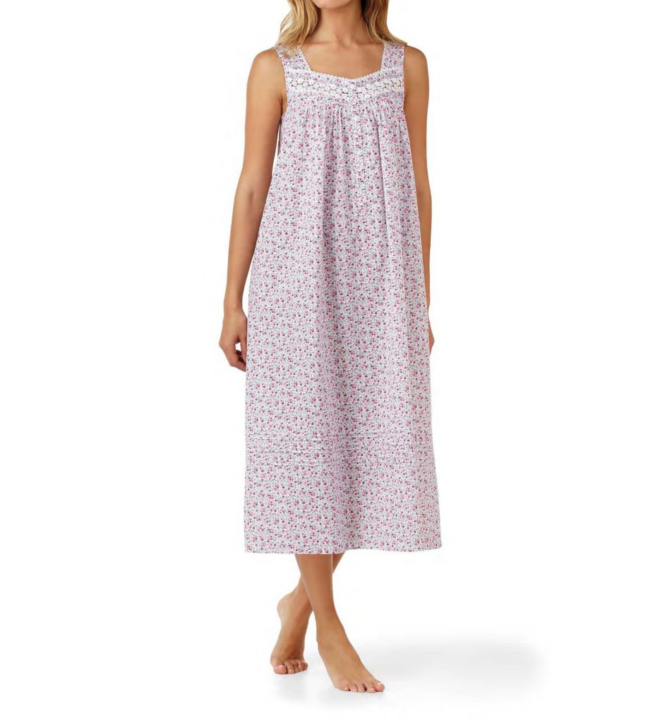 Eileen West Ditsy Cotton Lawn Sleeveless Ballet Nightgown 5216194
