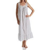 Eileen West Midnight Plum Cotton Lawn Sleeveless Nightgown 5219803