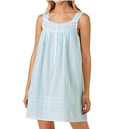Eileen West Twilight Bay Stripe Cotton Lawn Sleeveless Chemise 5319811