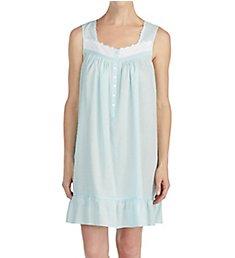 Eileen West Autumn Teal Sheer Stripe Clip Dot Short Chemise 5319899