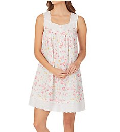 Eileen West Watercolor Floral Cotton Lawn Short Chemise 5319990