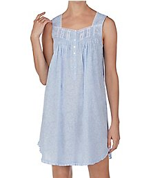 Eileen West Leafy Scroll Cotton Lawn Short Chemise 5320000