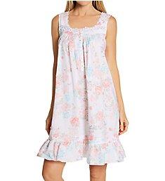 Eileen West Woven Cotton Lawn Sleeveless Short Nightgown 5320170