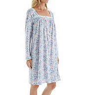 Eileen West Floral Long Sleeve Jersey Short Nightgown 5516083
