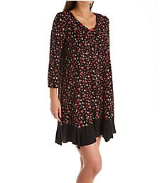 Ellen Tracy Midnight Floral 3/4 Sleeve Chemise 8021464