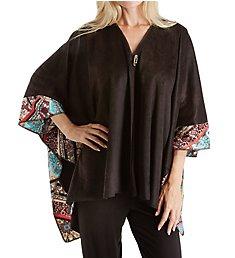 Ellen Tracy Medallion Microfleece Blanket Wrap 8318559