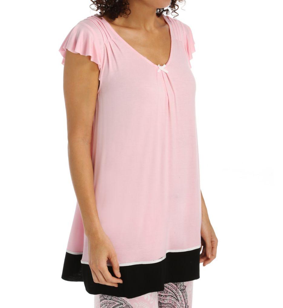 Ellen Tracy Romantic Spirit Short Sleeve Top 8415451