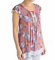Ellen Tracy Singapore Short Sleeve Top 8415469