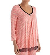 Ellen Tracy Autumn Air 3/4 Sleeve Top 8418434