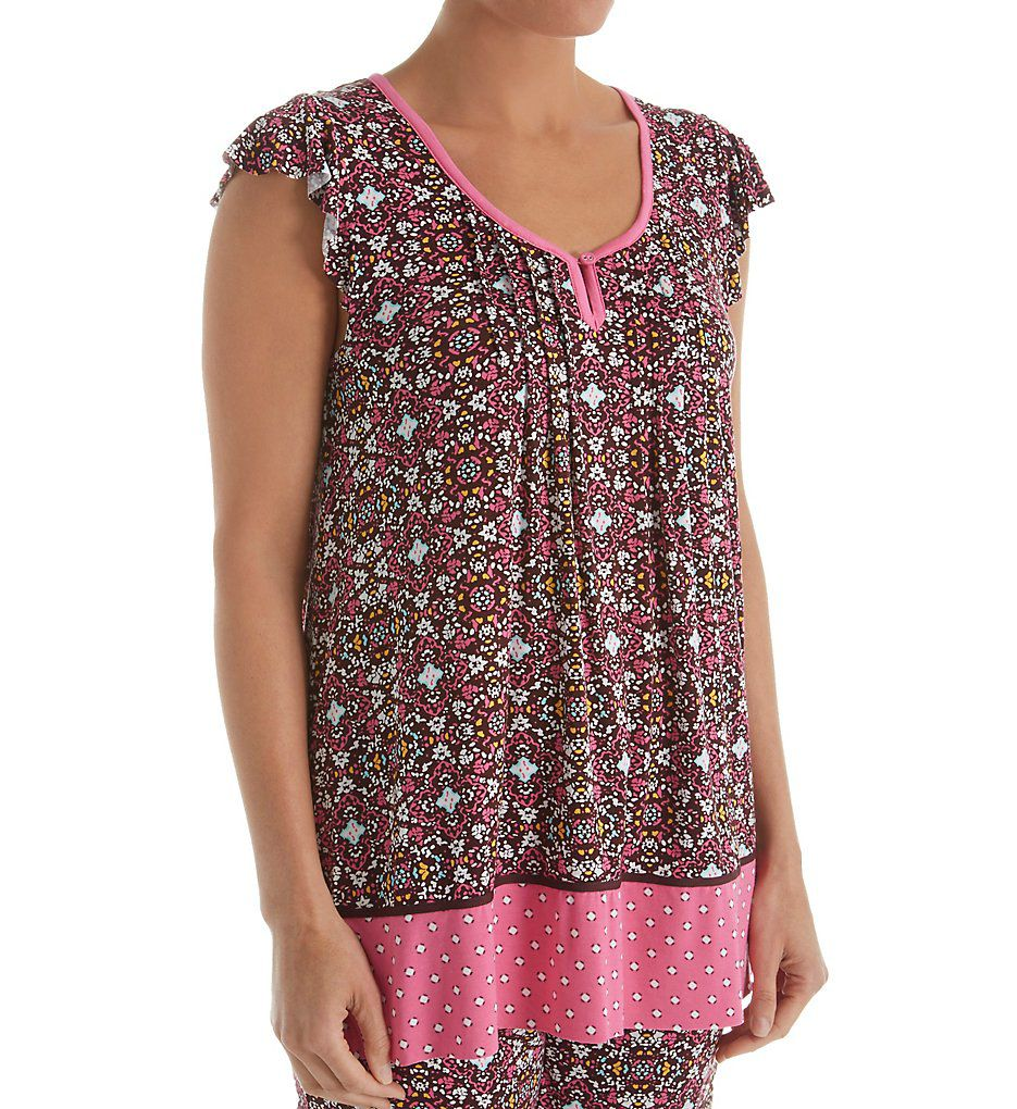 Ellen Tracy Traveler Short Sleeve Top 8418436