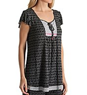 Ellen Tracy Beachside Bonfire Short Sleeve Top 8418498
